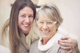 Mother with Eyeglasses and Adult Daughter in Johnson City