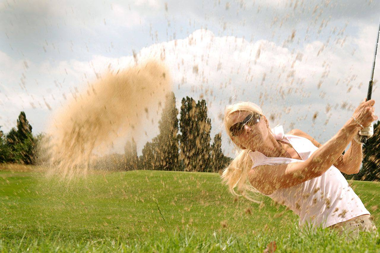 Sport golf sand med