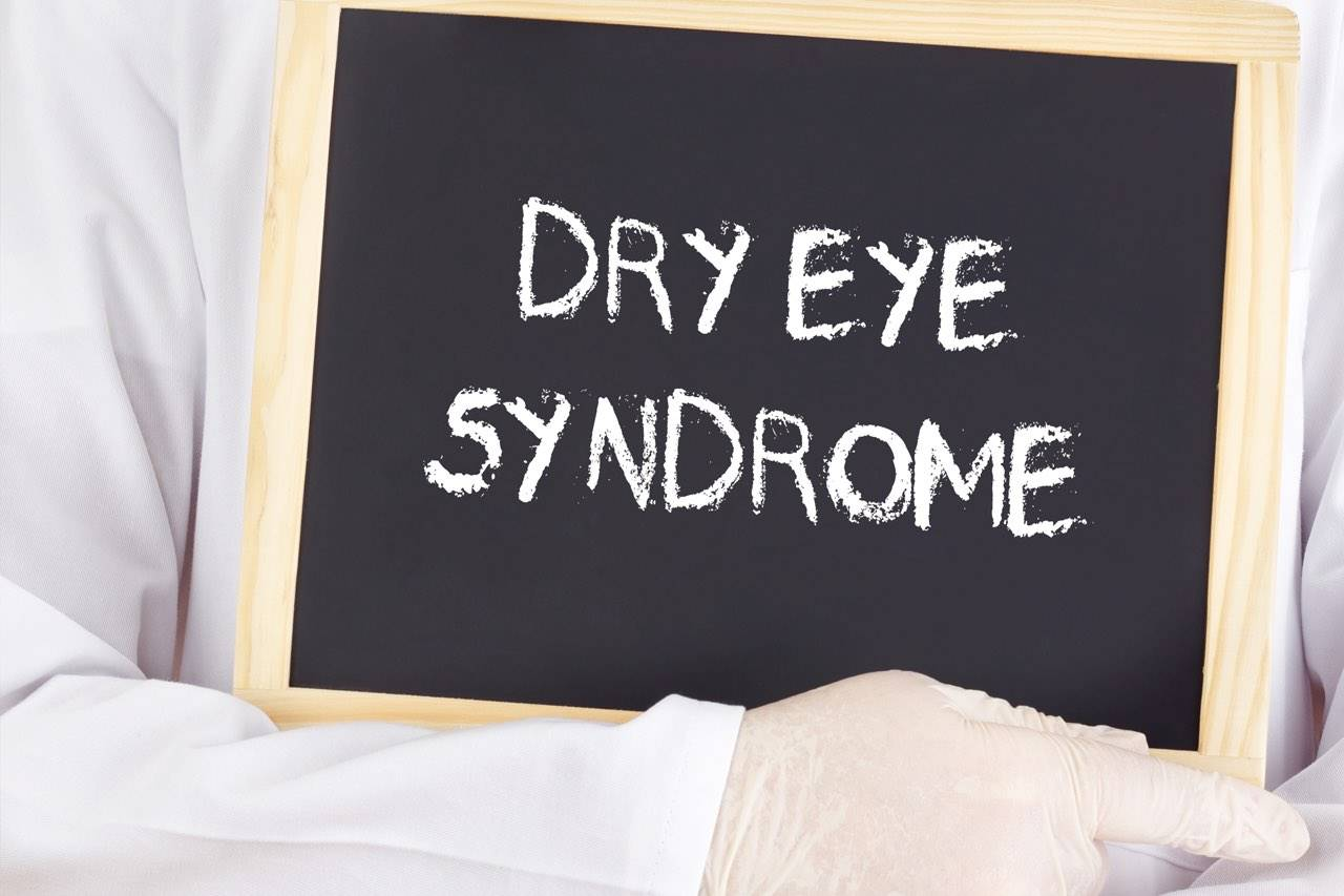 dry eye syndrome copy on blackboard