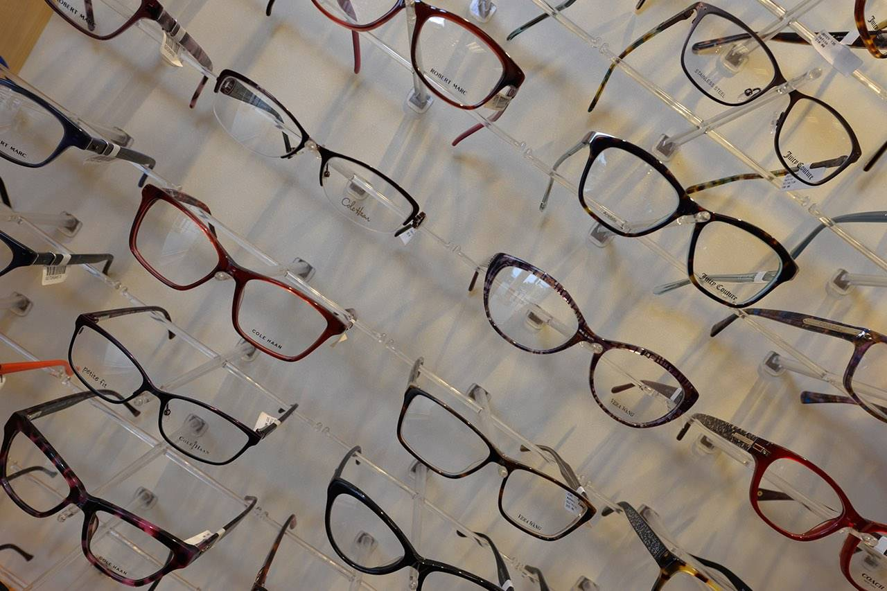 eyeglasses-wall-display-on-a-slant