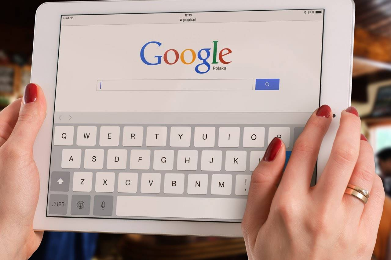 iPad with Google in Browser
