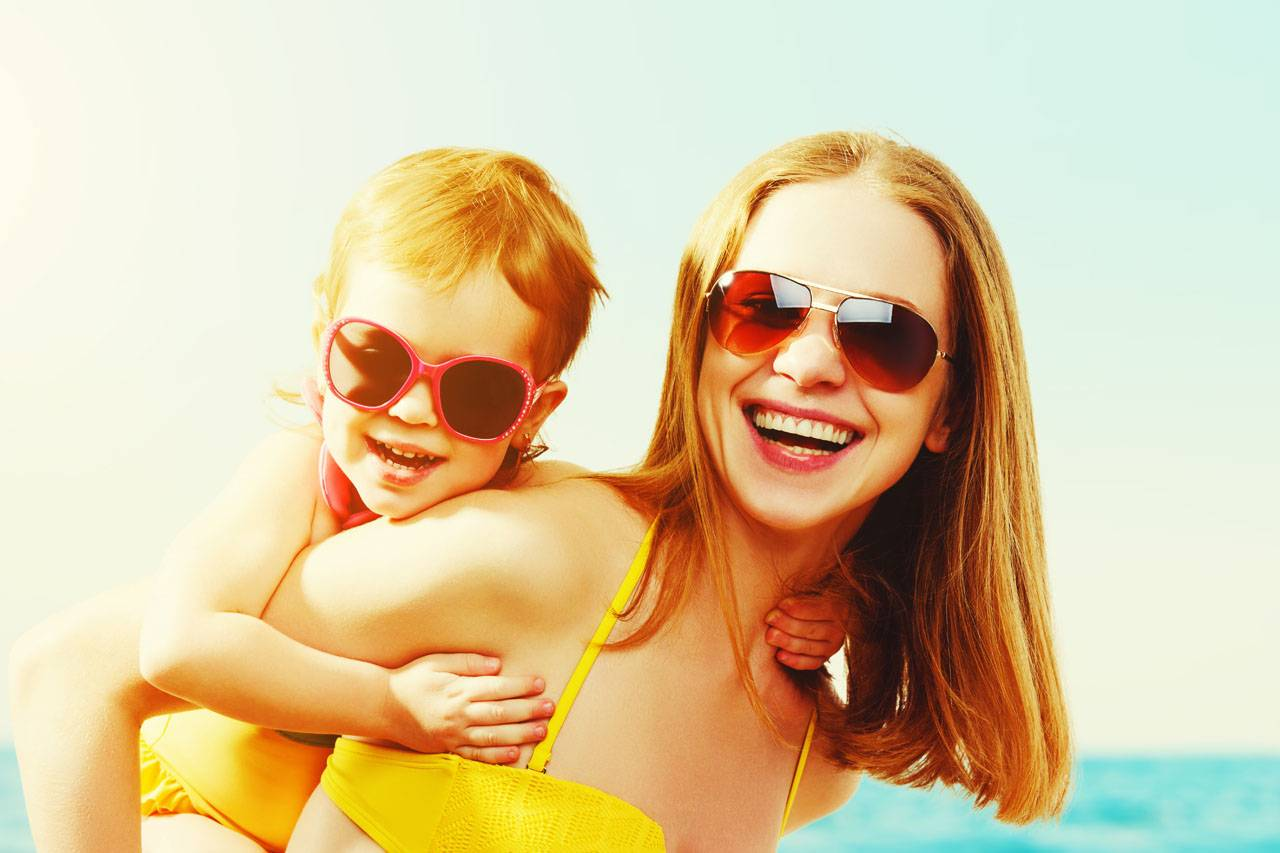 sunglasses american mother child