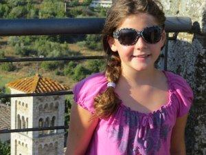 girl beside balcony