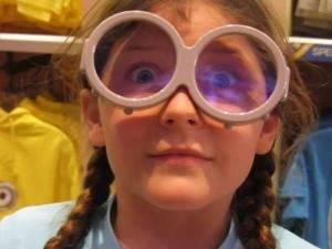 girl in funny glasses