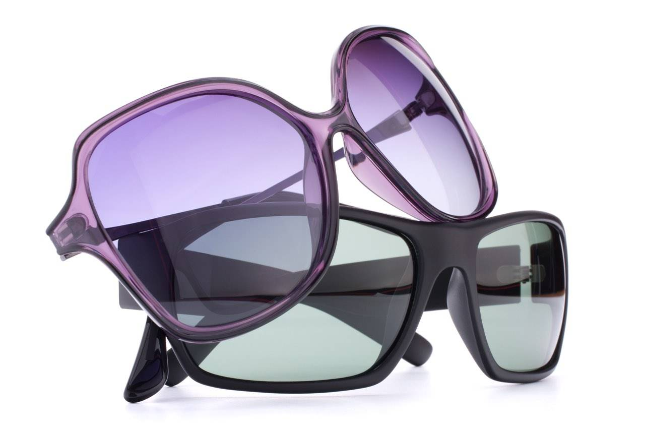 purple and black sunglasses