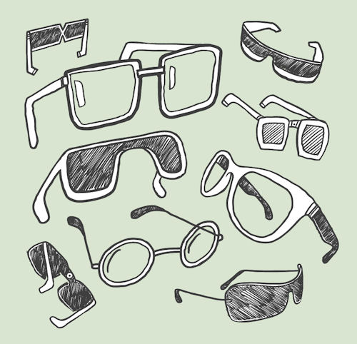 glasses 20line 20drawings
