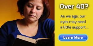 Presbyopia - Woman Reading Book - Eye Exam - Colorado Springs, CO