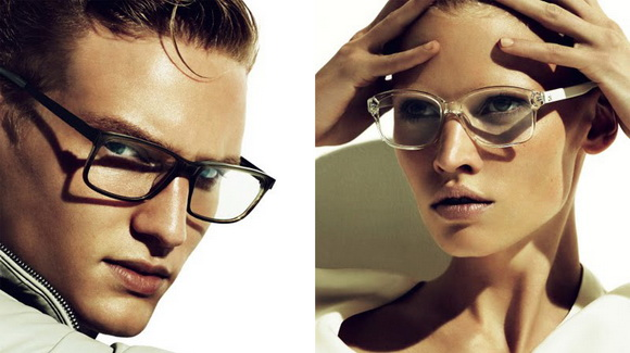 Eye care for man and woman in designer glasses in Picayune and Pearl River, LA