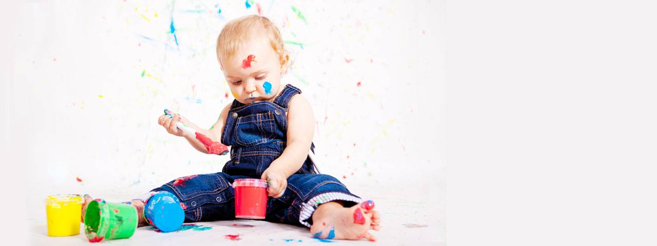 baby painting colorful 1280x480
